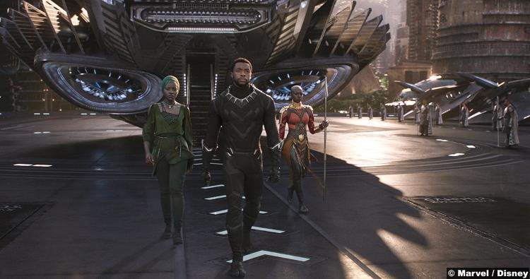 Black Panther Chadwick Boseman Danai Gurira Lupita Nyongo