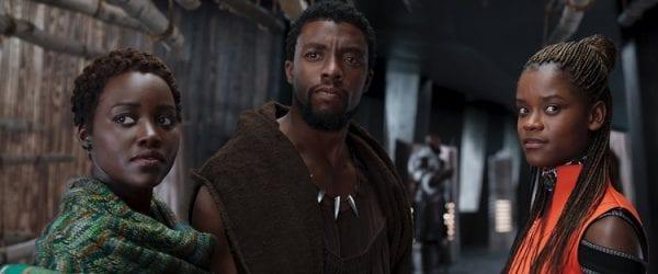 Black Panther Chadwick Boseman Lupita Nyongo Letitia Wright