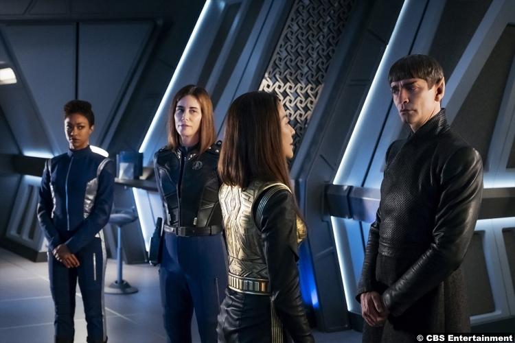 Star Trek Discovery S1e14 Michelle Yeoh Sonequa Martin Green Michael Burnham Captain Philippa Georgiou Sarek James Frain Admiral Cornwell Jayne Brook