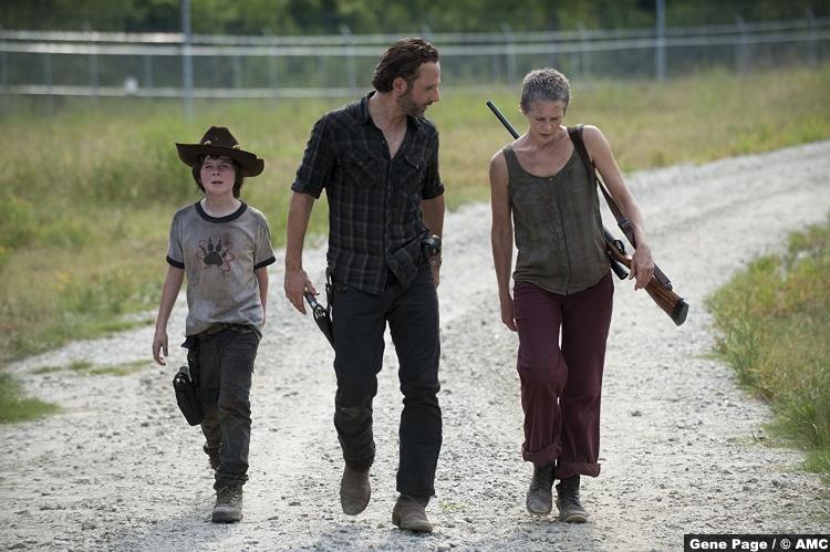 Walking Dead Chandler Riggs Carl Grimes Rick Carol