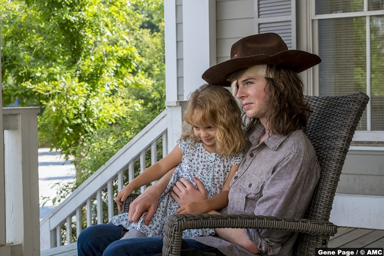 Walking Dead S08e9 Chandler Riggs Carl Grimes Judith