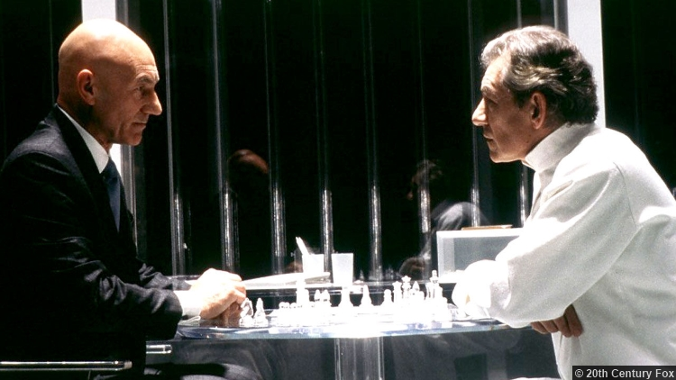 X Men Patrick Stewart Professor X Ian Mckellen Magneto Chess
