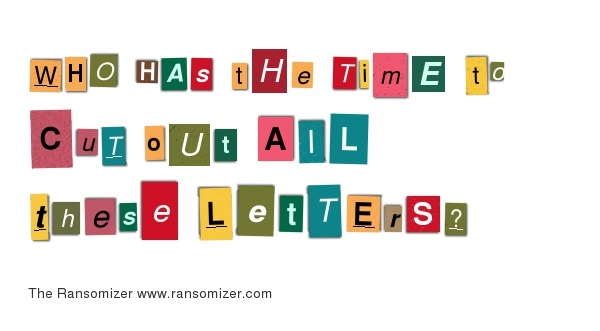 Ransom Letter Cutouts