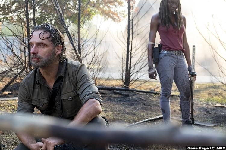 Walking Dead S08e10 Rick Michonne Andrew Lincoln Danai Gurira