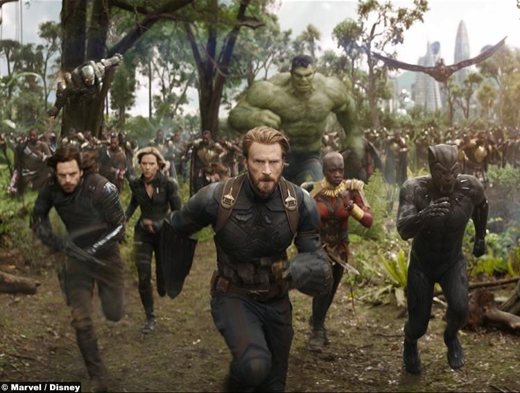 Avengers Infinity War Black Panther Captain America Black Widow Bucky Okoye Chris Evans Scarlett Johansson Chadwick Boseman Sebastian Stan Danai Gurira