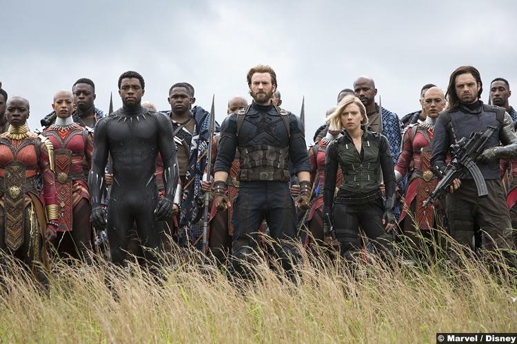 Avengers Infinity War Black Panther Captain America Black Widow Bucky Okoye Mbaku Chris Evans Scarlett Johansson Chadwick Boseman Sebastian Stan Danai Gurira Winston Duke