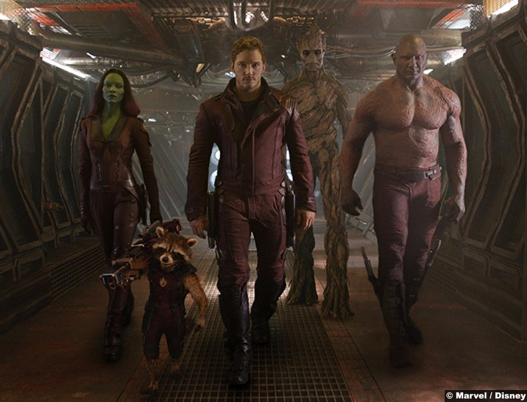 Guardians Galaxy Dave Bautista Drax Zoe Saldana Gamora Chris Pratt Peter Quill Star Lord Rocket