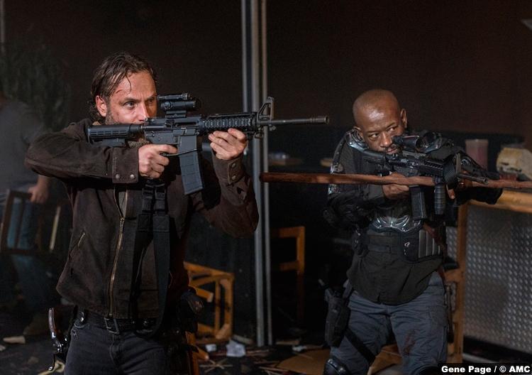 Walking Dead S8e14 Lennie James Morgan Andrew Lincoln Rick