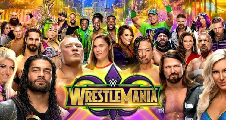 Wwe Wrestlemania 34 Poster 2