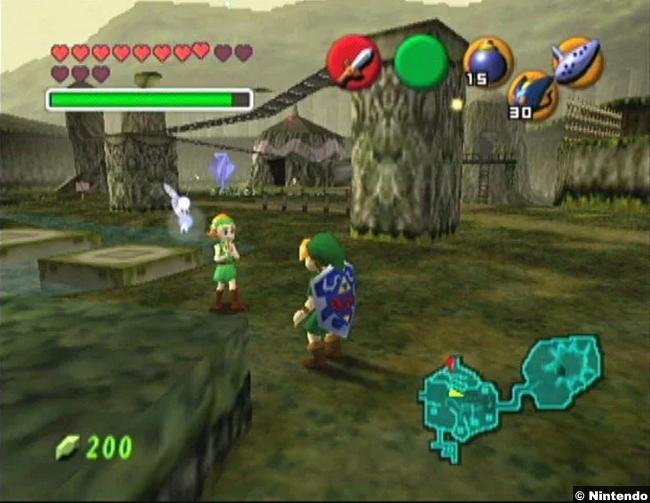 Legend Zelda Ocarina Time 1998 N64 1