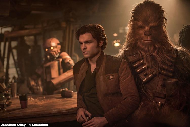 Solo Star Wars Story Alden Ehrenreich Joonas Suotamo Han Chewbacca