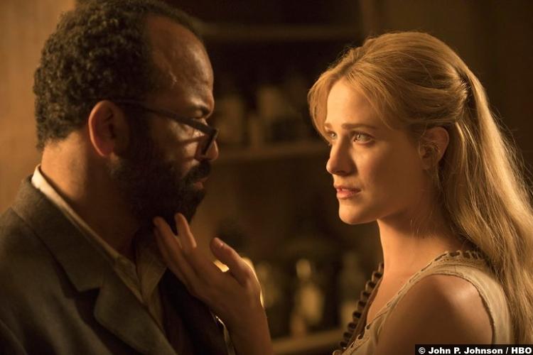 Westworld S02e03 Evan Rachel Wood Dolores Abernathy Jeffrey Wright Bernard Lowe