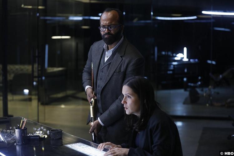 Westworld S02e06 Shannon Woodward Jeffrey Wright Elsie Hughes Bernard Lowe