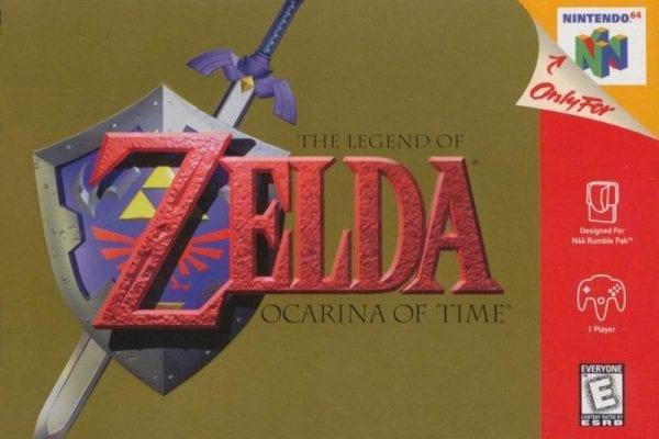 Zelda Ocarina Time 1998 Cover N64