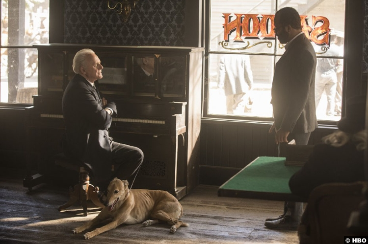 Westworld S02e07 Jeffrey Wright Bernard Lowe Anthony Hopkins Dr Robert Ford