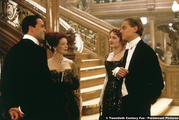 Titanic Leonardo Dicaprio Kate Winslet Billy Zane Frances Fisher