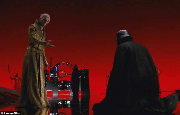 Star Wars Last Jedi Adam Driver Kylo Ren Ben Solo Snoke Andy Serkis