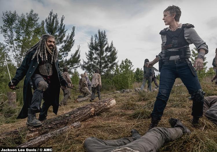 Walking Dead S09e02 Carol Peletier Melissa Mcbride Ezekiel Khary Payton