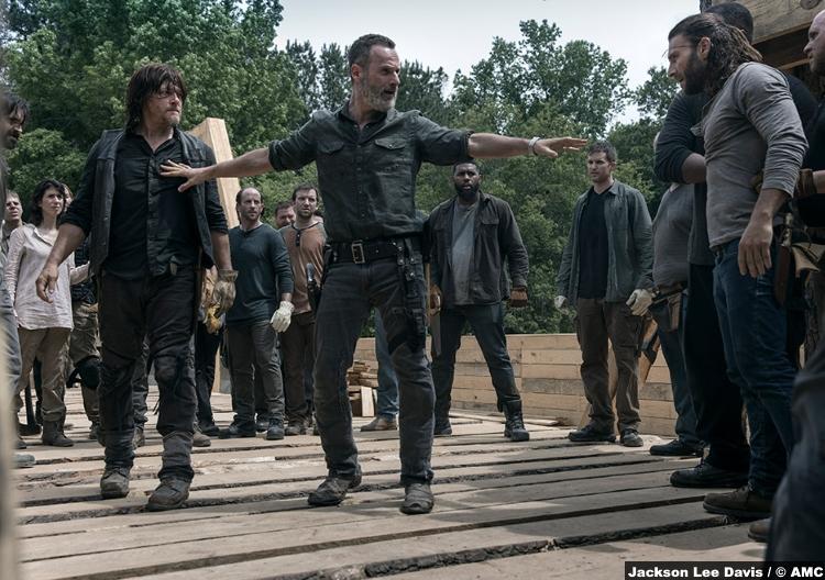 Walking Dead S09e02 Justin Zach Mcgowan Daryl Dixon Norman Reedus Rick Andrew Lincoln