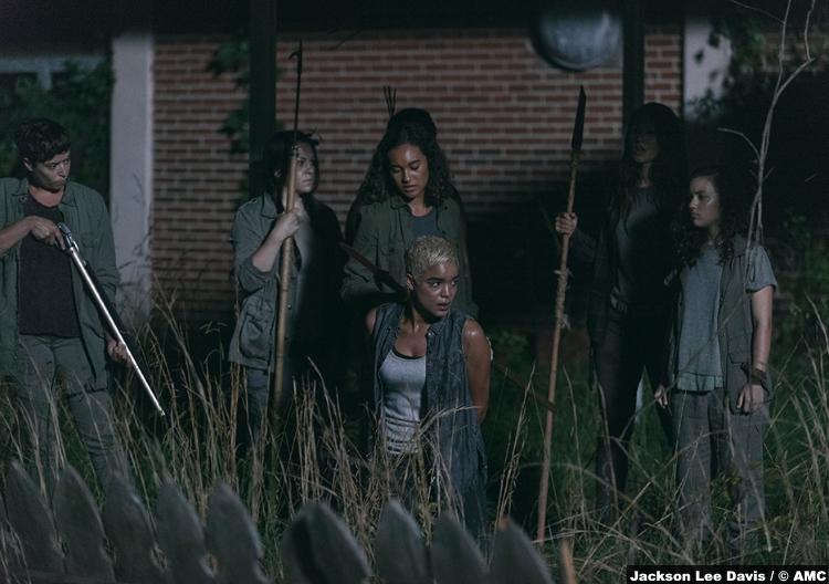 Walking Dead S09e03 Beatrice Riana Vanskus Cyndie Sydney Park Arat Elizabeth Ludlow Kathy Nicole Barre Rachel Mimi Kirkland