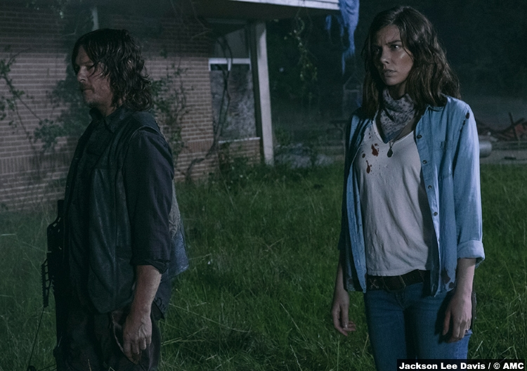 Walking Dead S09e03 Daryl Dixon Norman Reedus Maggie Green Lauren Cohan
