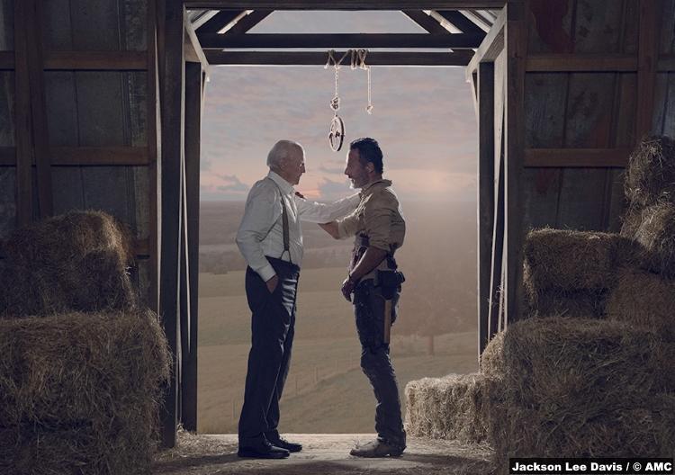 Walking Dead S09e05 Hershel Greene Scott Wilson Rick Grimes Andrew Lincoln