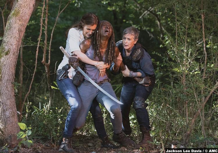 Walking Dead S09e05 Maggie Greene Lauren Cohan Michonne Dani Gurira Carol Peletier Melissa Mcbride