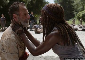 Walking Dead S09e05 Rick Michonne Andrew Lincoln Danai Gurira