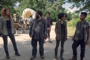 Walking Dead S09e06 Magna Nadia Hilker Luke Dan Fogler Connie Lauren Ridlof Kelly Angel Theory