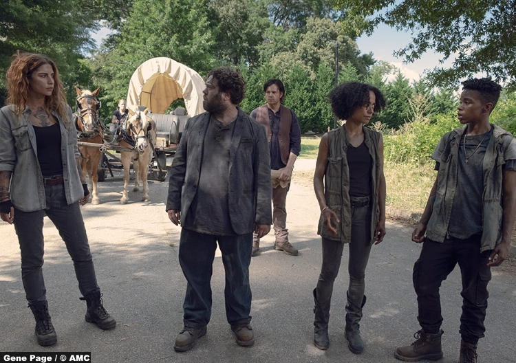 Walking Dead S09e06 Magna Nadia Hilker Luke Dan Fogler Connie Lauren Ridlof Kelly Angel Theory