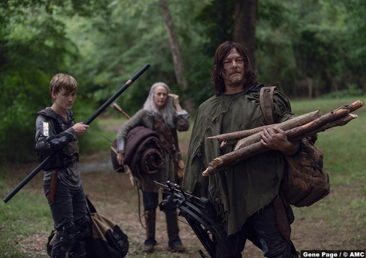 Walking Dead S09e07 Henry Matt Lintz Carol Peletier Melissa Mcbride Daryl Norman Reedus