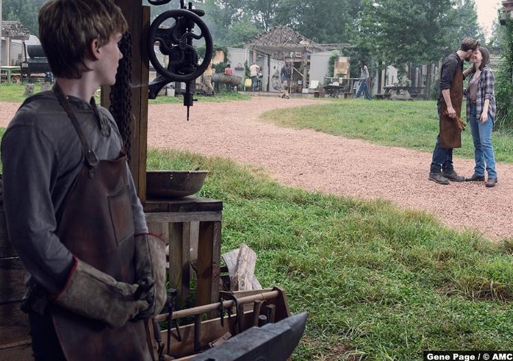 Walking Dead S09e08 Henry Matt Lintz Alden Callan Mcauliffe Enid Katelyn Nacon