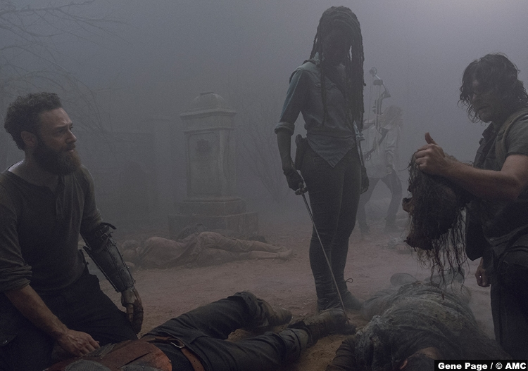 Walking Dead S09e08 Ross Marquand Aaron Daryl Michonne Dani Gurira