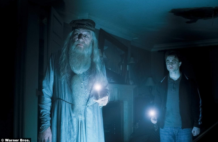 Harry Potter Half Blood Prince Michael Gambon Albus Dumbledore Daniel Radcliffe