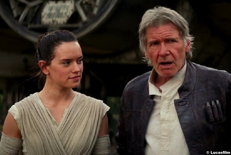 Star Wars Force Awakens Harrison Ford Han Solo Daisy Ridley Rey