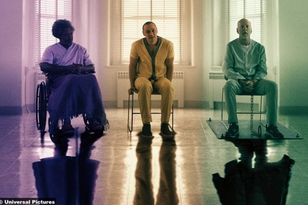 Glass Samuel L Jackson Elijah Price James Mcavoy Kevin Beast Bruce Willis David Dunn 2