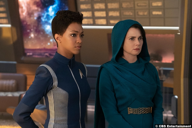 Star Trek Discovery S02e03 Mia Kirshner Sonequa Martin Green Amanda Grayson Michael Burnham