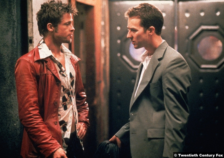 Fight Club Edward Norton Brad Pitt