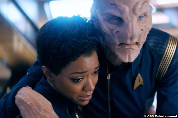 Star Trek Discovery S02e04 Michael Burnham Saru Doug Jones Sonequa Martin Green