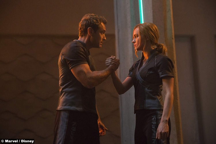 Captain Marvel Brie Larson Jude Law Yon Rogg