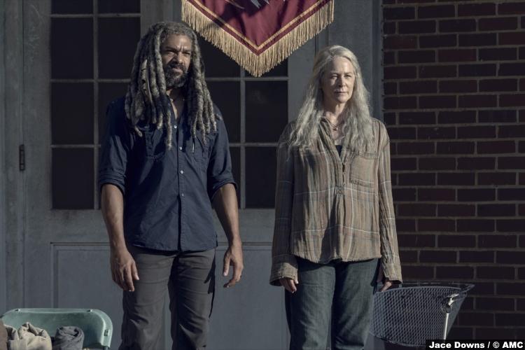 Walking Dead S09e13 Carol Peletier Melissa Mcbride Ezekiel Khary Payton