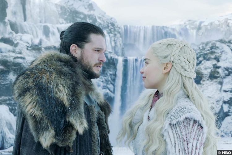 Game Of Thrones S08e01 Emilia Clarke Daenerys Targaryen Jon Snow Kit Harrington