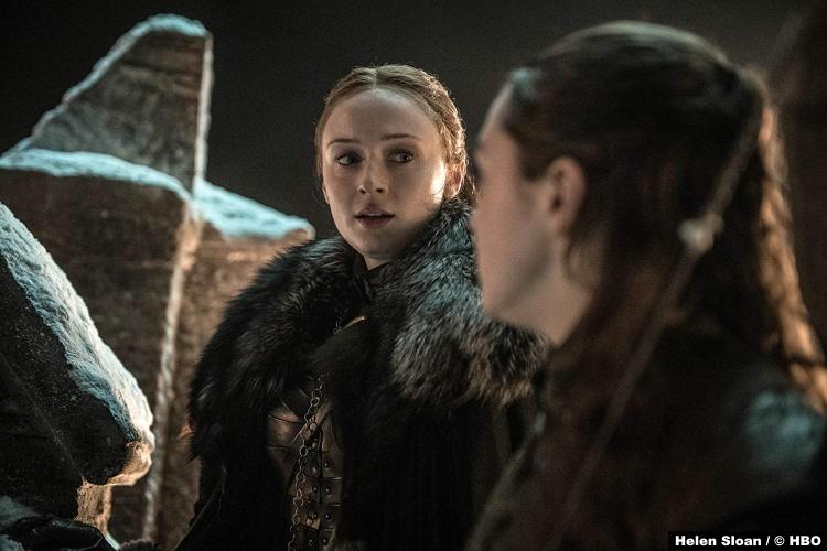 Game Thrones S08e03 Maisie Williams Arya Stark Sophie Turner Sansa
