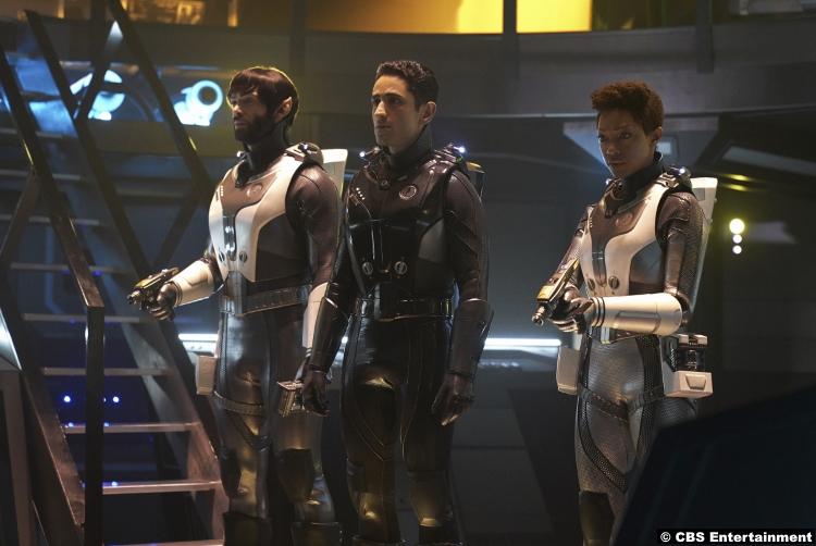 Star Trek Discovery S02e12 Ethan Peck Sonequa Martin Green Michael Burnham Spock Ali Momen Kamran Gant