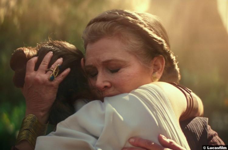 Star Wars Rise Skywalker Trailer Daisy Ridley Rey Carrie Fisher Princess Leia 18