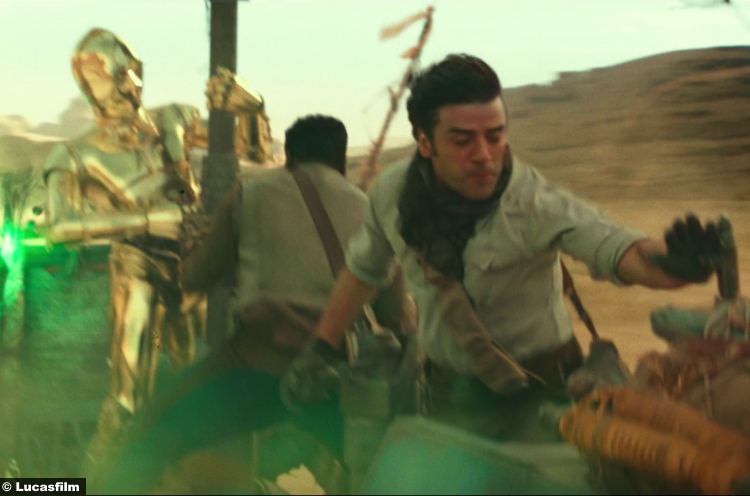 Star Wars Rise Skywalker Trailer John Boyega Finn Oscar Isaac Poe Dameron C3po 15