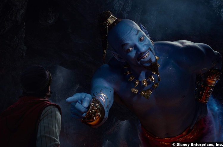 Aladdin 2019 Mena Massoud Will Smith Genie
