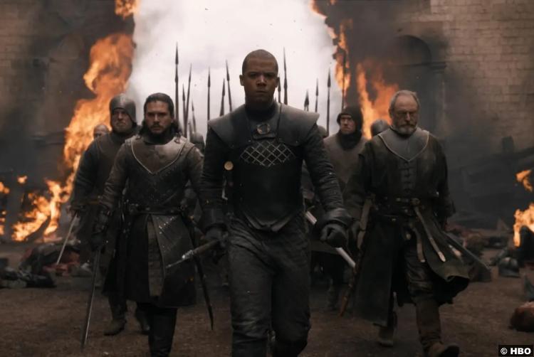 Game Of Thrones S08e05 Liam Cunningham Davos Kit Harrington Jon Snow Jacob Anderson Greyworm