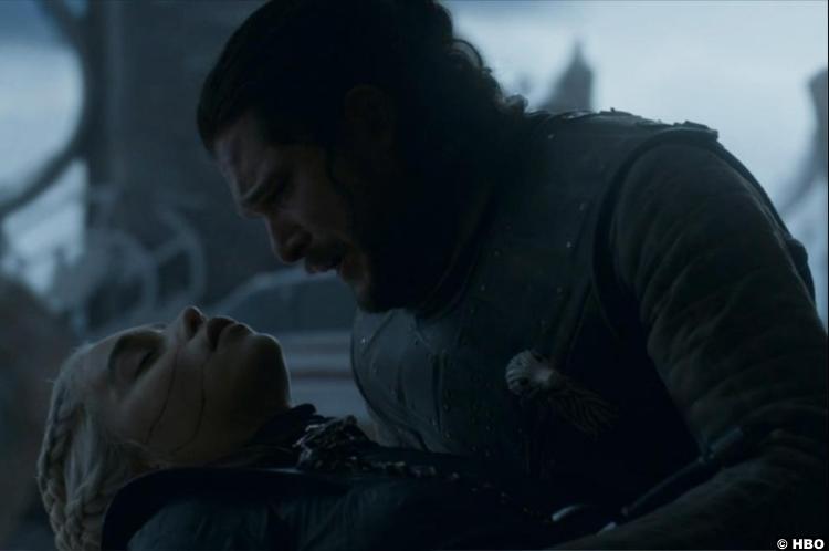 Game Of Thrones S08e06 Emilia Clarke Daenerys Targaryen Jon Snow Kit Harrington