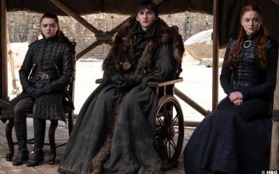 Game Thrones S08e03 Maisie Williams Arya Stark Sophie Turner Sansa Issac Hempstead Wright Bran